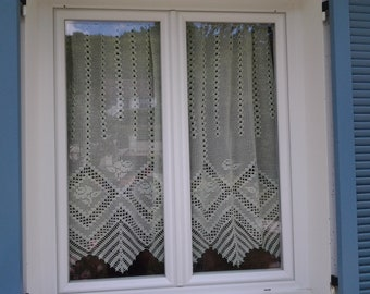 Crocheted Curtains Etsy
