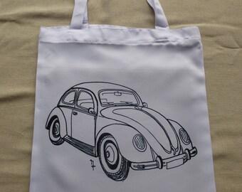 Tote bag design volkswagen Beetle car