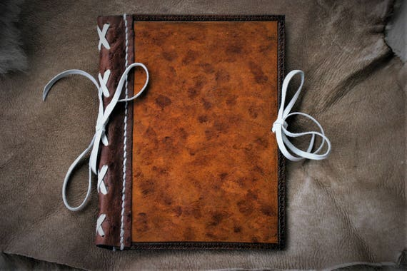Leather cover book, booknote, medieval style
