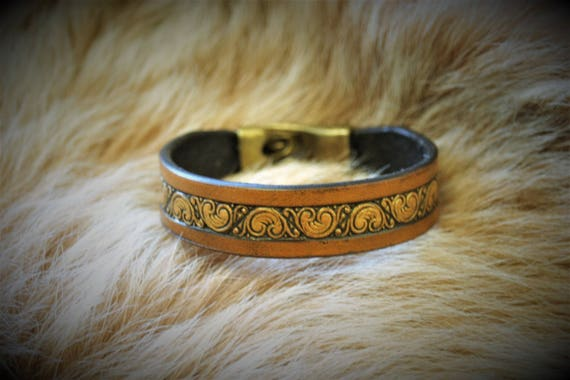 leather bracelet, leather jewel, leather strip, leather bangle, pagan, celtic, antic, for woman or man