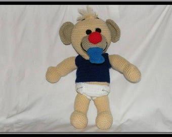 Baby bear. Crochet blanket.