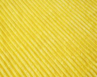 Fabric velvet thick ribs yellow