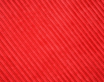Fabric velvet thick ribs deep red