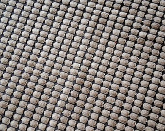 """Ribbed """"quilted effect"""" chocolate Velvet fabrics"""