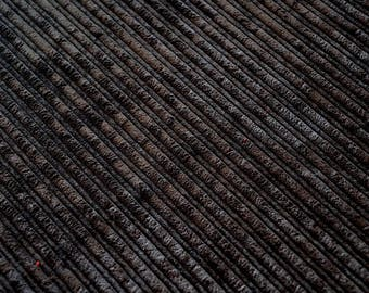 Fabric velvet thick ribs Brown