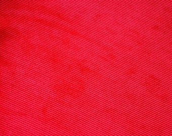 Fabric velvet red ribbed crewneck
