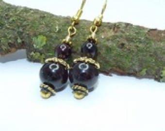 Garnet beautiful dangling earrings with Garnet stone
