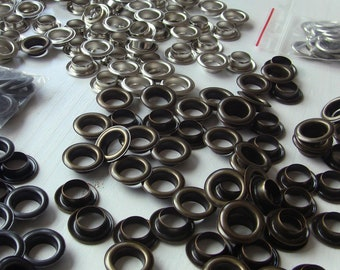 24 large eyelets, light 14mm or 15mm silver or Bronze, Total 24mm or 30mm diameter