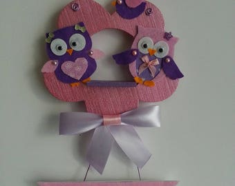 Pink and purple owls nest