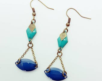 Balance earrings blue