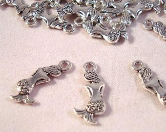 Sold in packs of 5 Mermaid charms