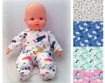 Pajamas for dolls (like Corolle or Famosa Nenuco, ...), size 20, 30 or 36 cm
