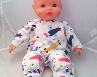 3517c69e5a865 Pyjama sur commande pour poupées et poupons de 30 ou 36 cm (type Corolle,  Nenuco,...) en jersey - Divers tissus au choix