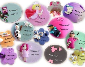 Fully customizable fimo paste badge for nurse, midwife, nursing assistant, childcare specialist, etc...