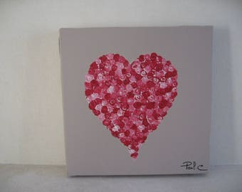 Free shipping! Little pink heart picture