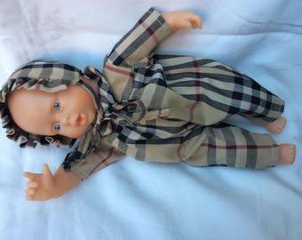 combi tartan 30 cm doll clothing