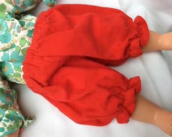 Dolls clothes bloomers dark orange velvet doll 36 cm
