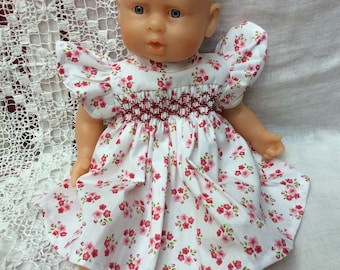 Doll clothes, dress with pink flowers for ref 317 30 cm dolls