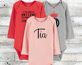 4dbfa575a01c Customized Personalized Baby Girls  3pk Poppy Bodysuit - Just One You® made  by carter s Pink   Gray