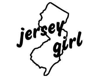 NJ Girl in FL World Car Decal