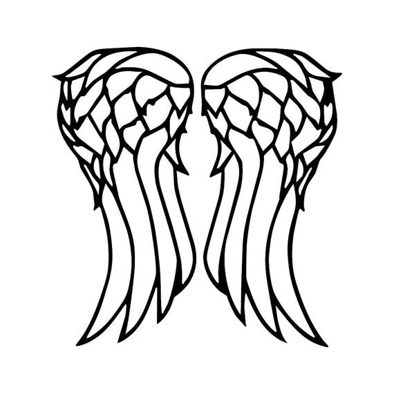 FREE USA SHIPPING Walking Dead Daryl Dixon Wings Decal Sticker