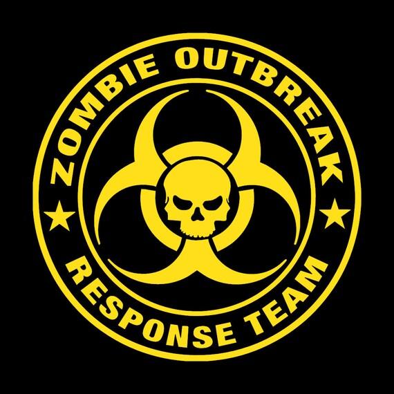Sv Zombie Outbreak Response Team Metal Deca Sticker Case Computer PC Laptop