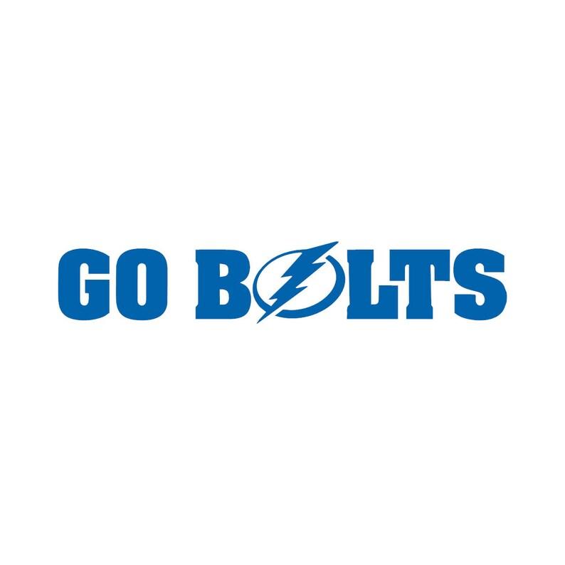 6997374c Tampa Bay lightning decal, Go Bolts sticker, hockey, car window vinyl  decal, laptop, yeti tumbler, sports, bumper