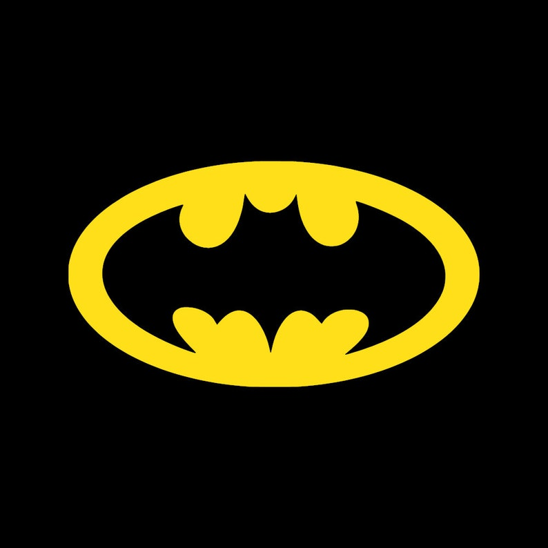 Batlight Shines On Line For Dark Knight >> Batman Decal Batman Sticker Retro Batman Logo Dark Knight Etsy