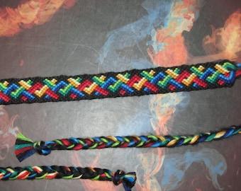 wacky Friendship Bracelet with multicolor V