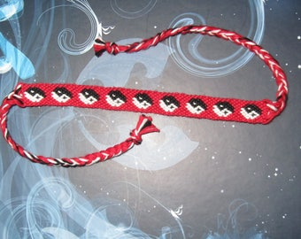Friendship Bracelet drawing ying and yang
