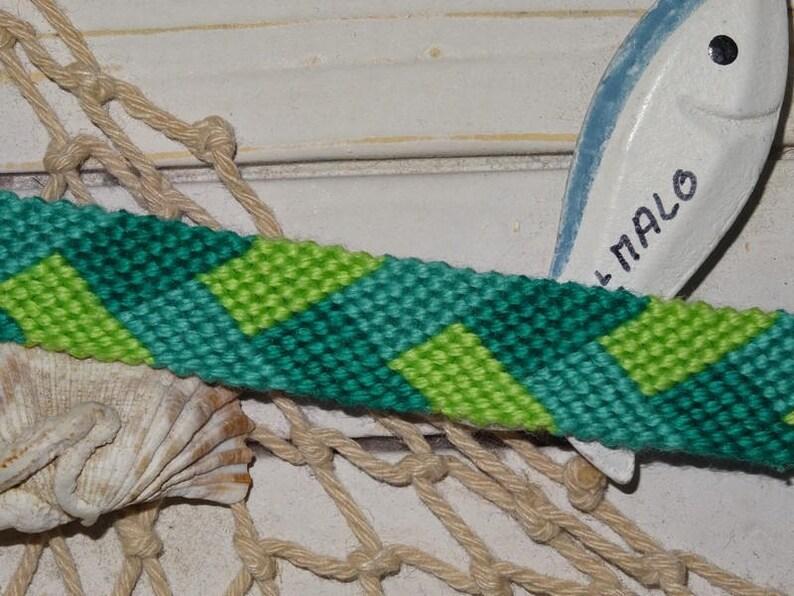 Friendship Bracelet braided 3 green colors