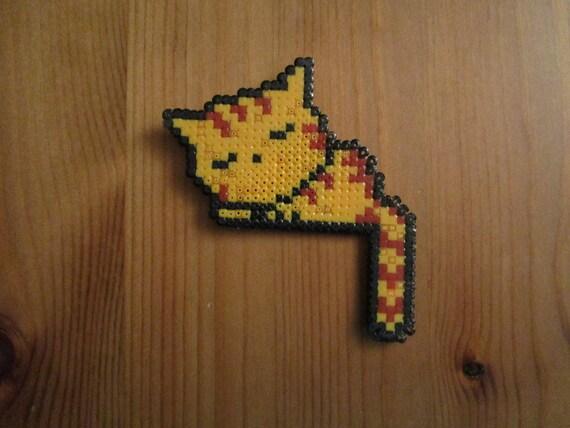 Pixel Art Sicke Tiere Rote Katze Schläft Etsy