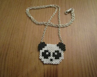 Pixel Art/beading - {pet} - Panda necklace