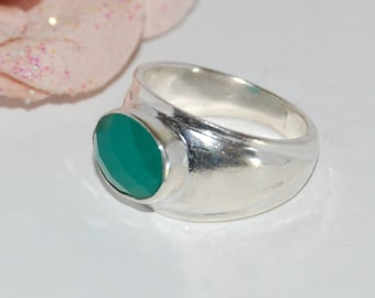 Clearance ring green onyx and Silver 925 ring - size 53 after Beach © - clearance jewelry
