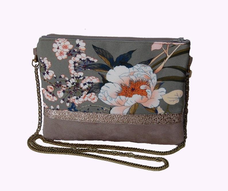 f8dc85b5377d0 Pochette sac de soirée japonisante pochette mariage suédine   Etsy