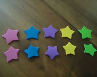 set of 10 stars - STICKERS - 2.7 heights and 2.3 cm