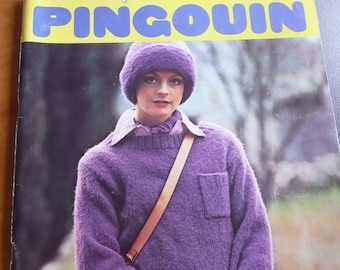 French vintage knitting magazine PINGOUIN ( for all the family) n. 4 - 1975