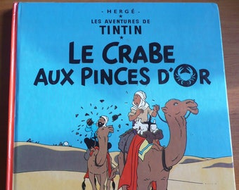 COMICS  the adventures of TINTIN by Hergé , Le crabe aux pinces d'or - 1981