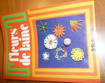 french magazine FLOWERS OF WOOL creations diy - vintage booklet