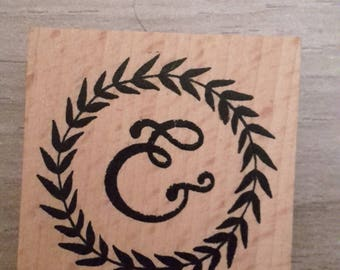 Wooden rubber stamp