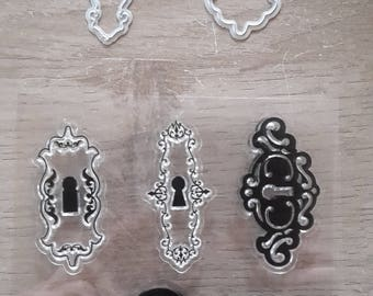 Locks clear stamps