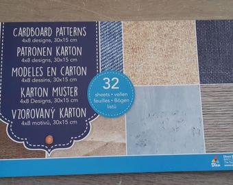 Sheets of cardboard 30 x 15 scrapbooking