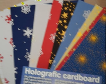 Holographic cardboard sheets