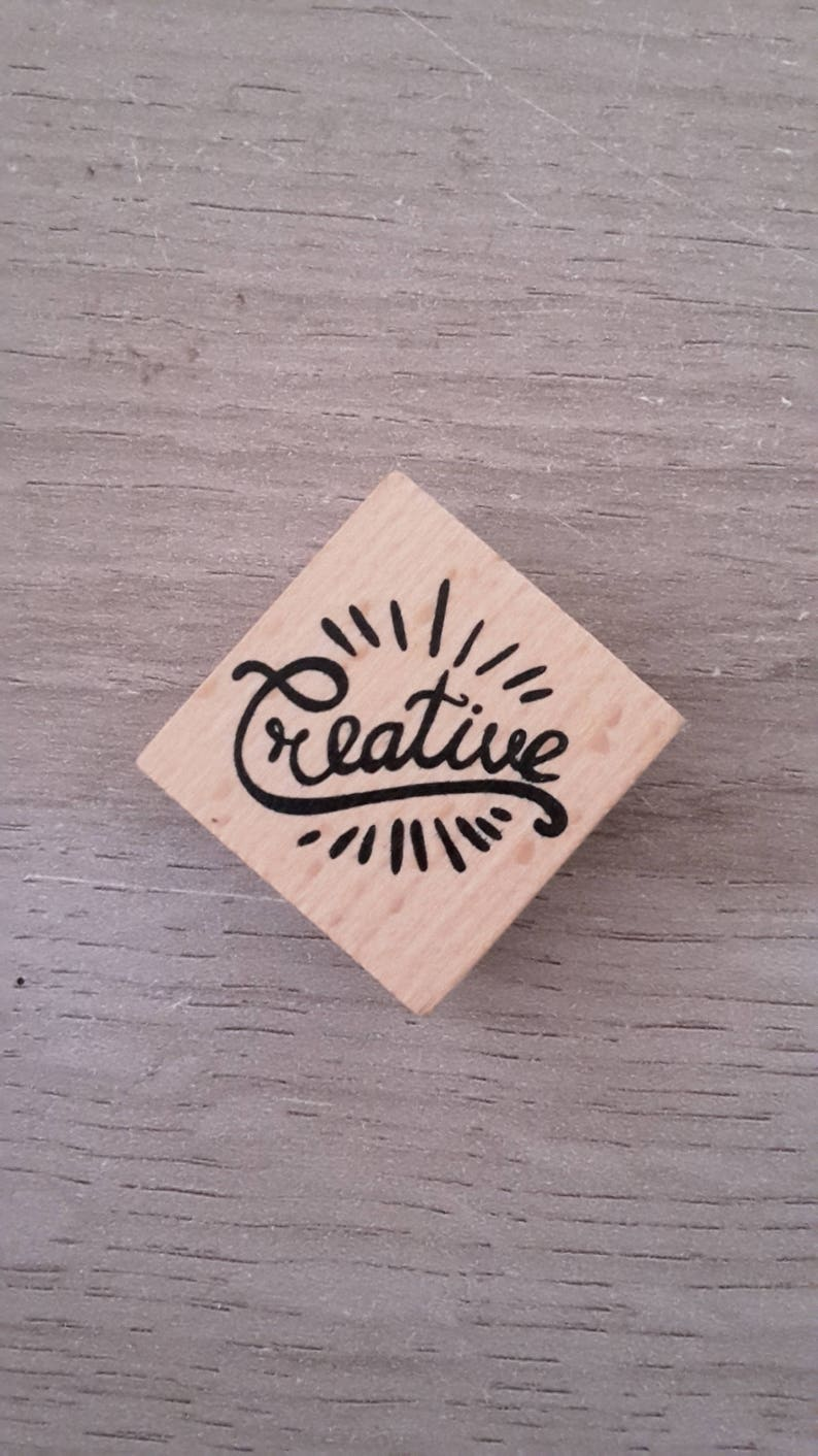 Creative wooden stamp