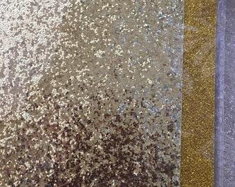 self-adhesive glitter leaves