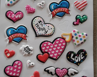 Stickers stickers hearts