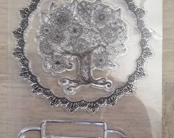 Clear stamps trees