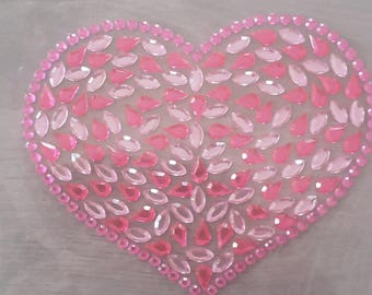 3D hearts stickers