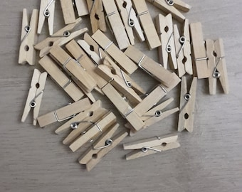 Mini clothespins 3.5 centimeters