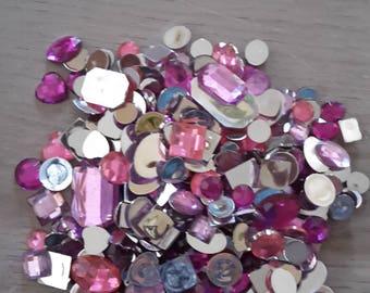 Rhinestone hearts round oval square rectangle stones
